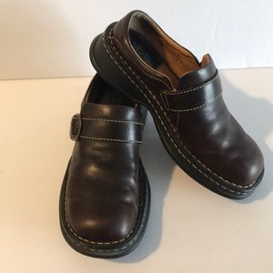 BORN Brown casual slip on shoes with buckle